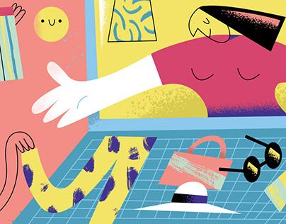 Editorial illustration for POPMODERNA