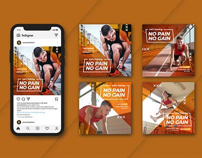 Gym fitness instagram post design