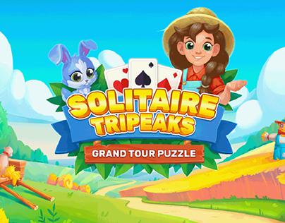 Solitaire Tripeaks: grand tour puzzle