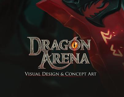 Visual Design &Concept Art of a Dragon Arena MOBA Game