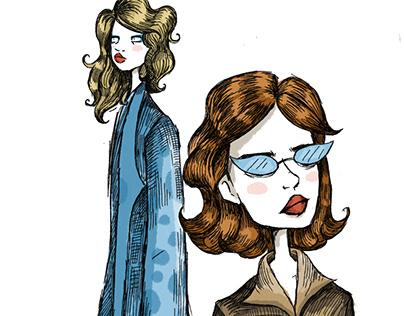 series of fashion illustrations