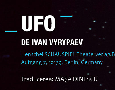 Brochure for UFO/ National Theatre of Bucharest