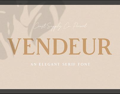 FREE | Vendeur An Elegant Serif Font