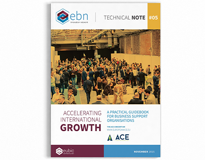 Graphic design of a EBN project guide