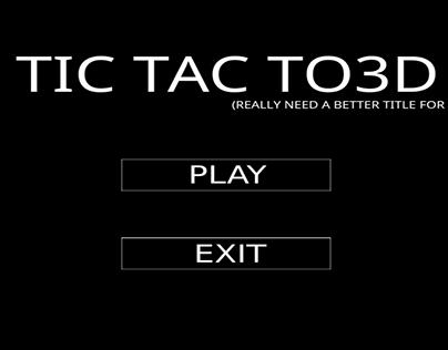 Tic Tac To3D