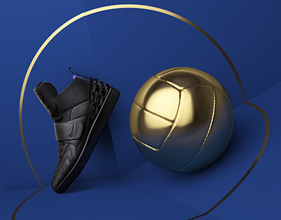 NIKE F.C. | 3D Golden balls in the real world