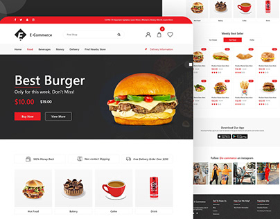 Shopify Ecommerce landing page