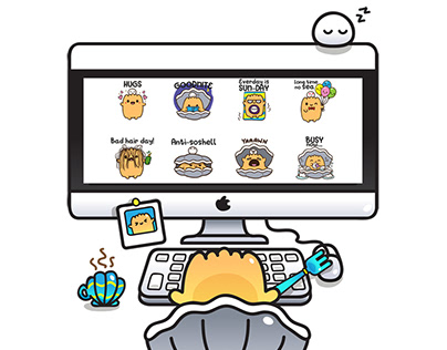 Kakchan the Oyster Stickers