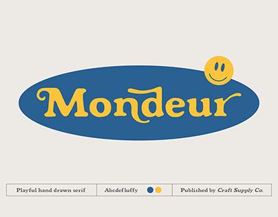 FREE | Mondeur A Playful Hand Drawn Serif