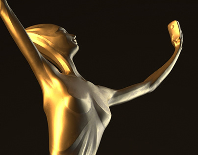 """Selfie"" music box (Narcissus trophy)"