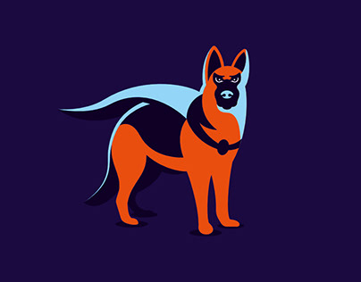 German Shepherd Hero Logo