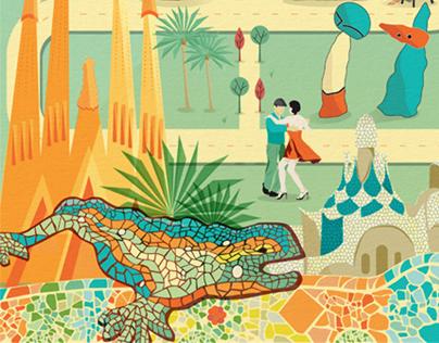 Barcelona Holidays Map