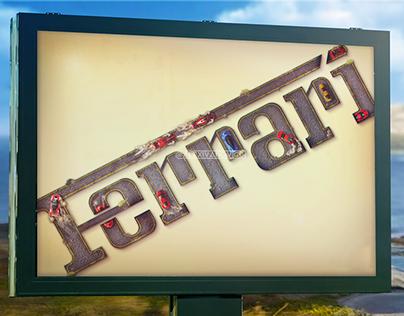 Ferrari Typography Poster (fan)