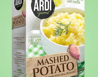 Ardi Mashed Potato Packaging