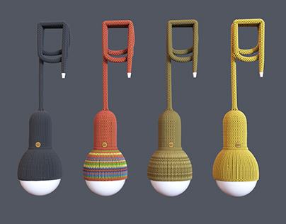 Knitted Luna Lamp Free 3d model