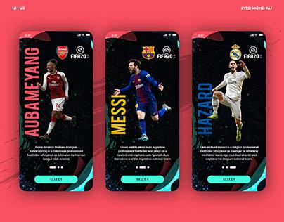 FIFA20 App Animated Walkthrough
