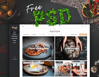 Food York - free PSD & Website design