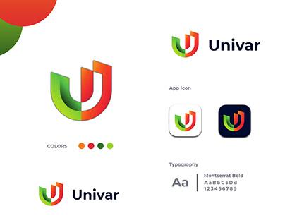 Modern U Letter Logo, U mark