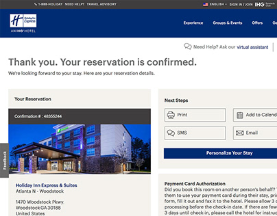 Modify a Reservation - Responsive Booking Flow
