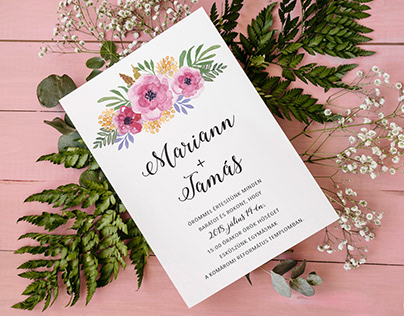 Boho Wedding Invitation (2018)