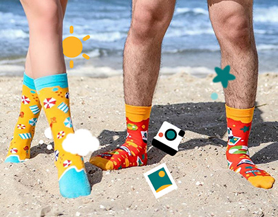 Summer Travel Collection Socks Design