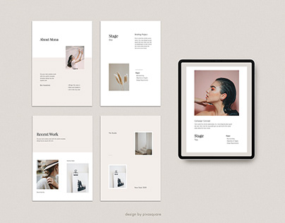 MONA - A4 Vertical Media Kit Template Presentation