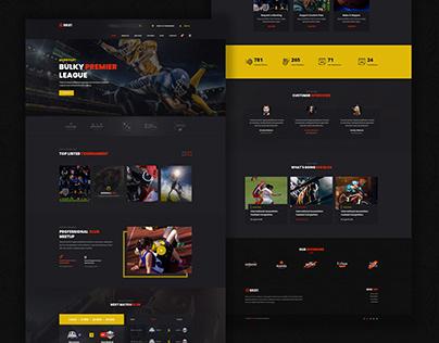 Football Games Website Design