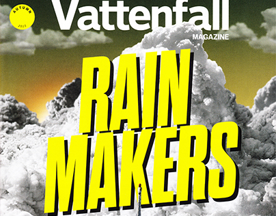 Cover + double-page spread for Vattenfall Magazine