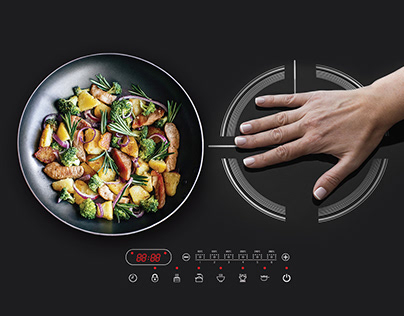 Outdoor advertising of the cooking surface
