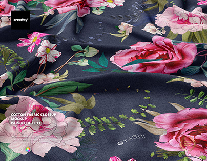Cotton Fabric Closeup Mockup