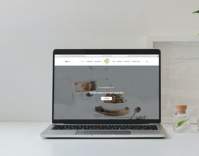 web catalogue for a vegan brand