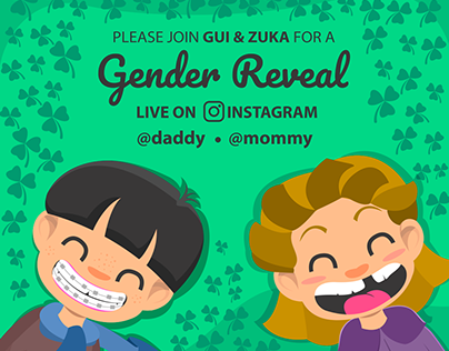 Gender Reveal Card for Instagram