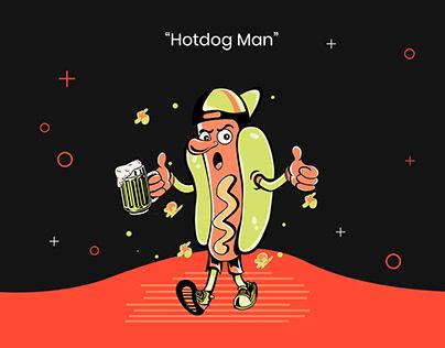 Hotdog man Illustration