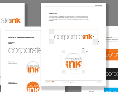 Corporate Ink, visual identity system