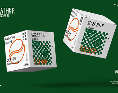 Coffee packaging 丛星永萃 GATHER 咖啡-包装-vi-设计