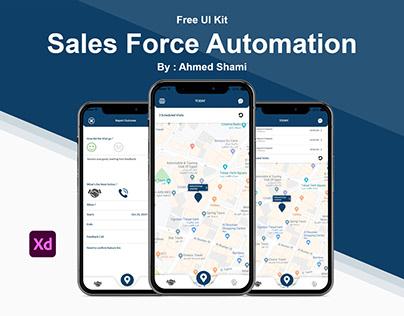 Free UI Kit Sales Force Automation