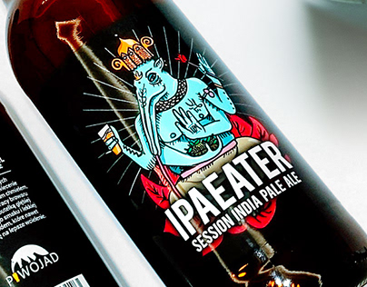 IPAEATER - beer bottle label