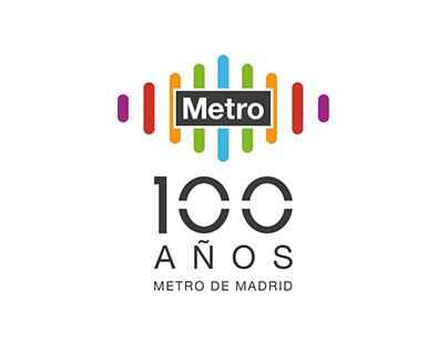 Logo 100 años Metro Madrid