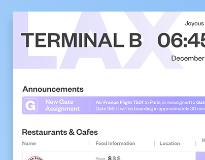 Airport Dining UX
