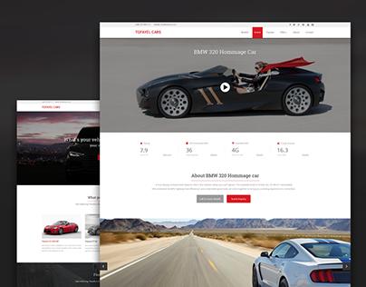 Website design for a car dealer. Car details page.