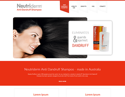 Neutriderm Shampoo Website Design and Development