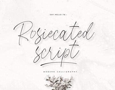 Rosiecated Script
