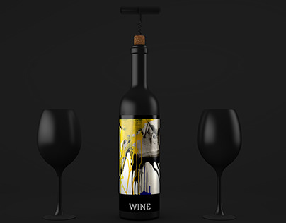 Wine label graphics