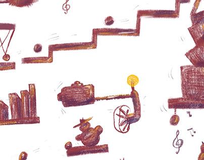 The Rube Goldberg machines