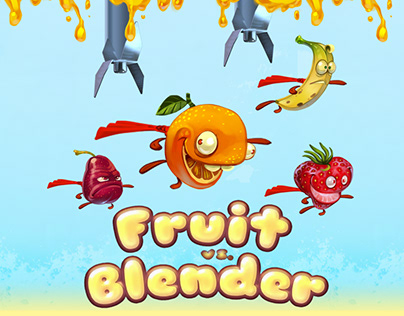 Fruit vs Blender game art and concept design.