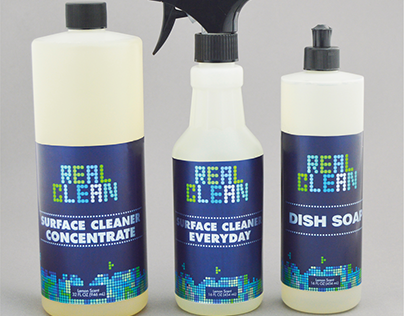 Real Clean - Cleaning Products for Men | Packaging