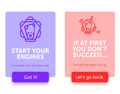 Daily UI 011 - Success and Failure Prompts