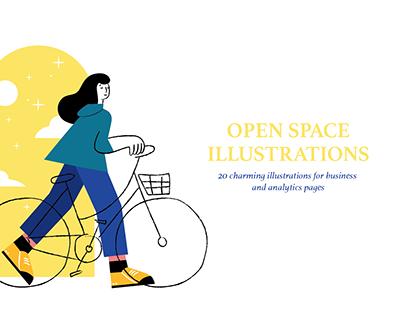 OPEN SPACE ~ Illustration set