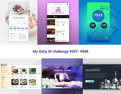 My Daily UI challenge #037-#048