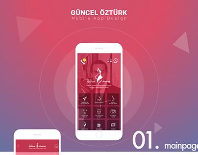 Guncel Ozturk Mobile Application Design
